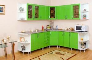 Плюсы угловых кухонь