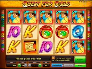 Увлекательный поиск золота с игровым автоматом Quest for gold