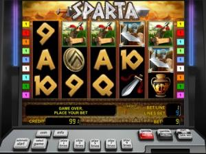 Обзор игрового аппарата Sparta